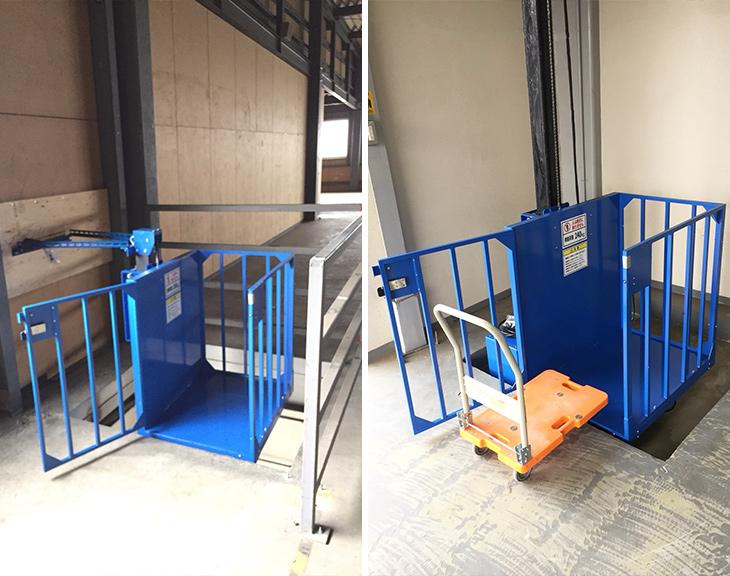 電動リフトを倉庫に設置/千葉県Tさま