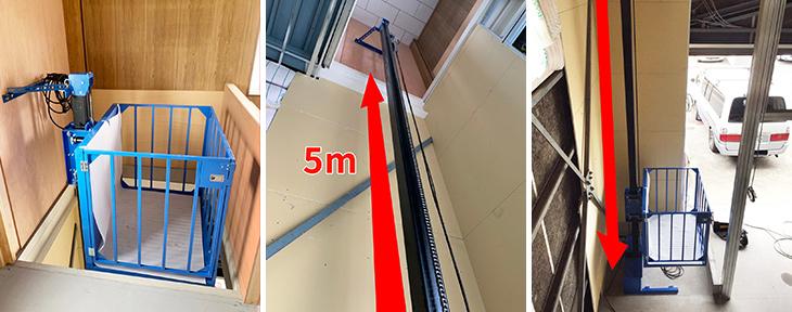 ブルーリフト設置事例-和歌山県M倉庫