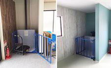 小型リフト・広島県の事務所兼倉庫