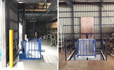 小型リフト・山口県の倉庫