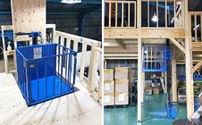 小型リフト・静岡県の倉庫