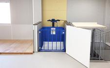 小型リフト・大阪府の事務所兼倉庫