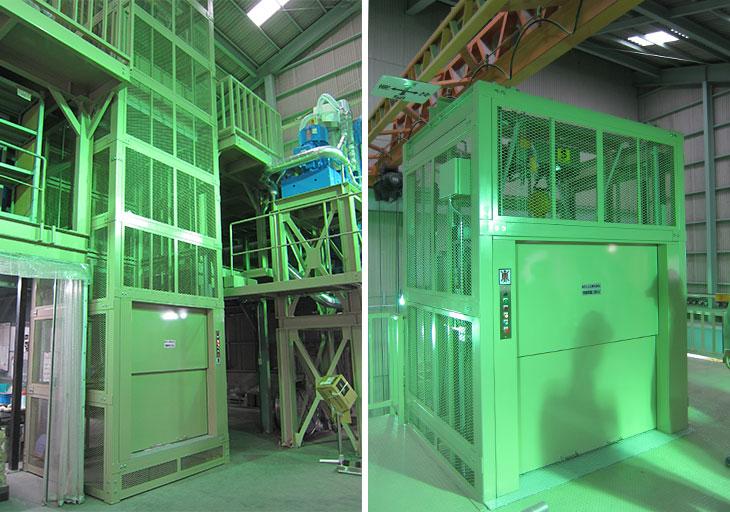 荷物昇降機-工場