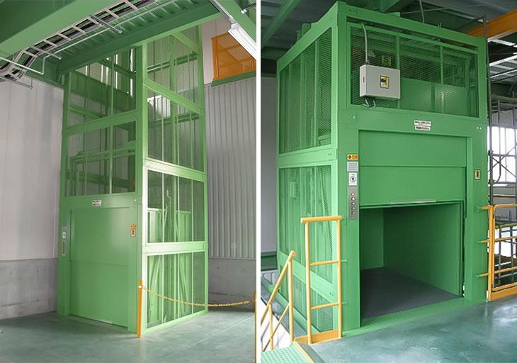 荷物リフト-工場