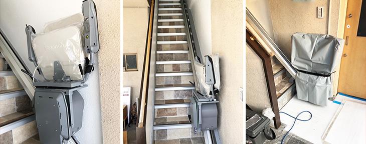 いす式階段昇降機設置事例-京都府店舗