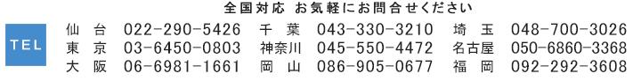 お問い合わせー各営業所の電話番号