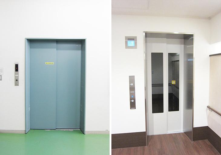 乗用エレベーターは上げ戸にできますか?