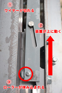 カゴ落下防止装置のイメージ