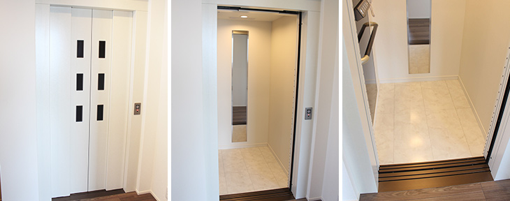 ホームエレベーター設置事例-大阪府個人住宅