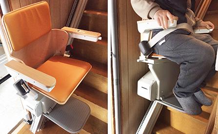 いす式階段昇降機・大阪府の個人住宅