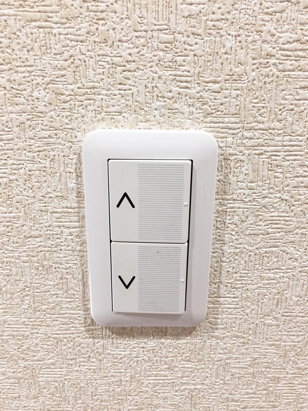 配線を埋め込み型にした呼び送りスイッチ