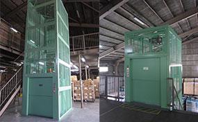 倉庫リフト・滋賀県の物流センター