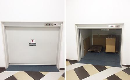 簡易リフト・高知県の倉庫