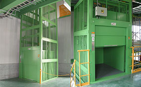 昇降リフト・東京都の工場
