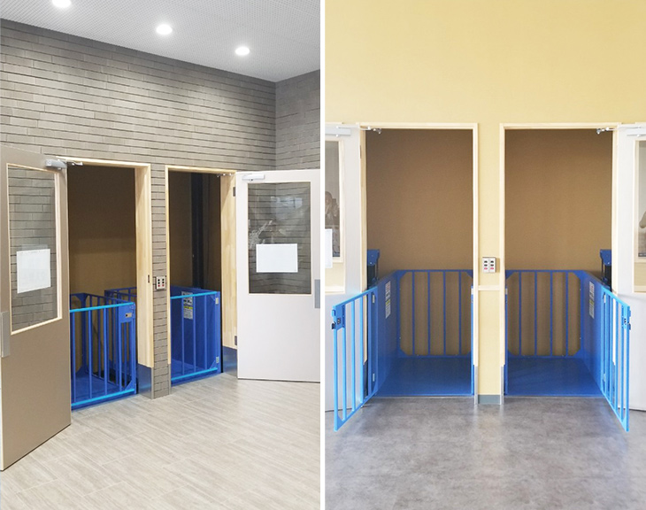 2台の小型リフトを倉庫に設置/茨城県Jさま