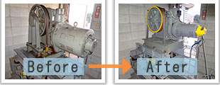 リニューアル例1-エレベーター巻上機