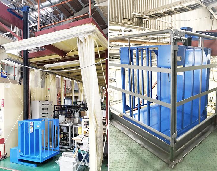 小型リフトを工場に設置/三重県Tさま