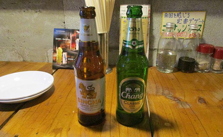シンハー・ビールとチャーンビール