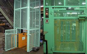 小型リフト・栃木県の倉庫