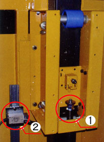 ピラリフターの自動落下防止装置と自動停止装置