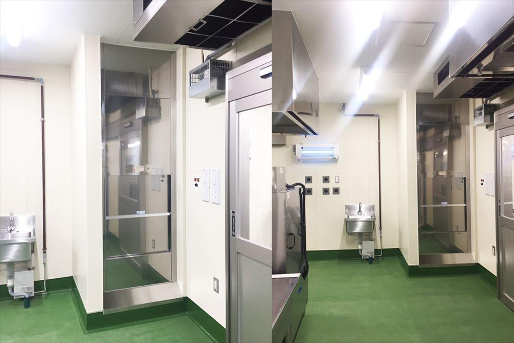 レストランに小荷物専用昇降機/埼玉県さいたま市