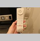 ワンタッチ通報ボタン付電話機