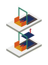 垂直搬送機(自動搬送トレー超低床式)